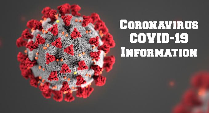 Coronavirus information banner